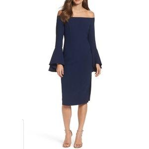 Bardot Solange off shoulder midi dress M